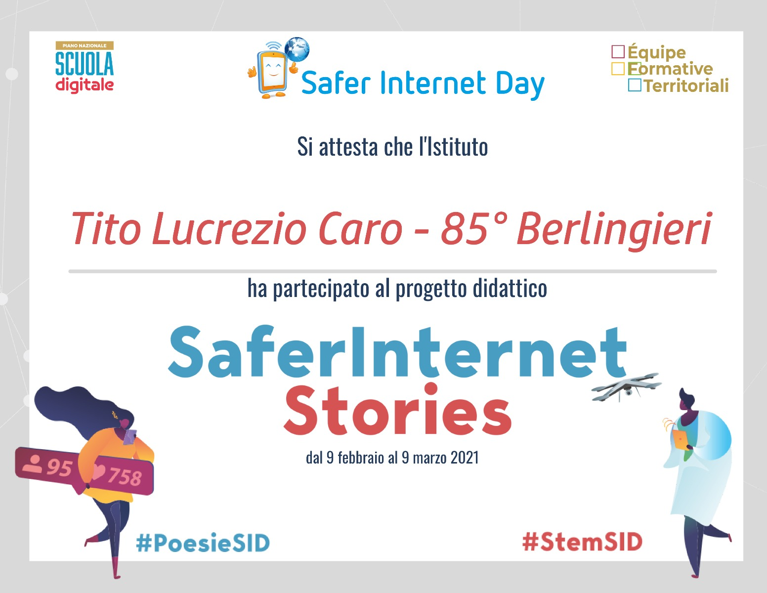 Progetto Safer Internet Stories - PNSD