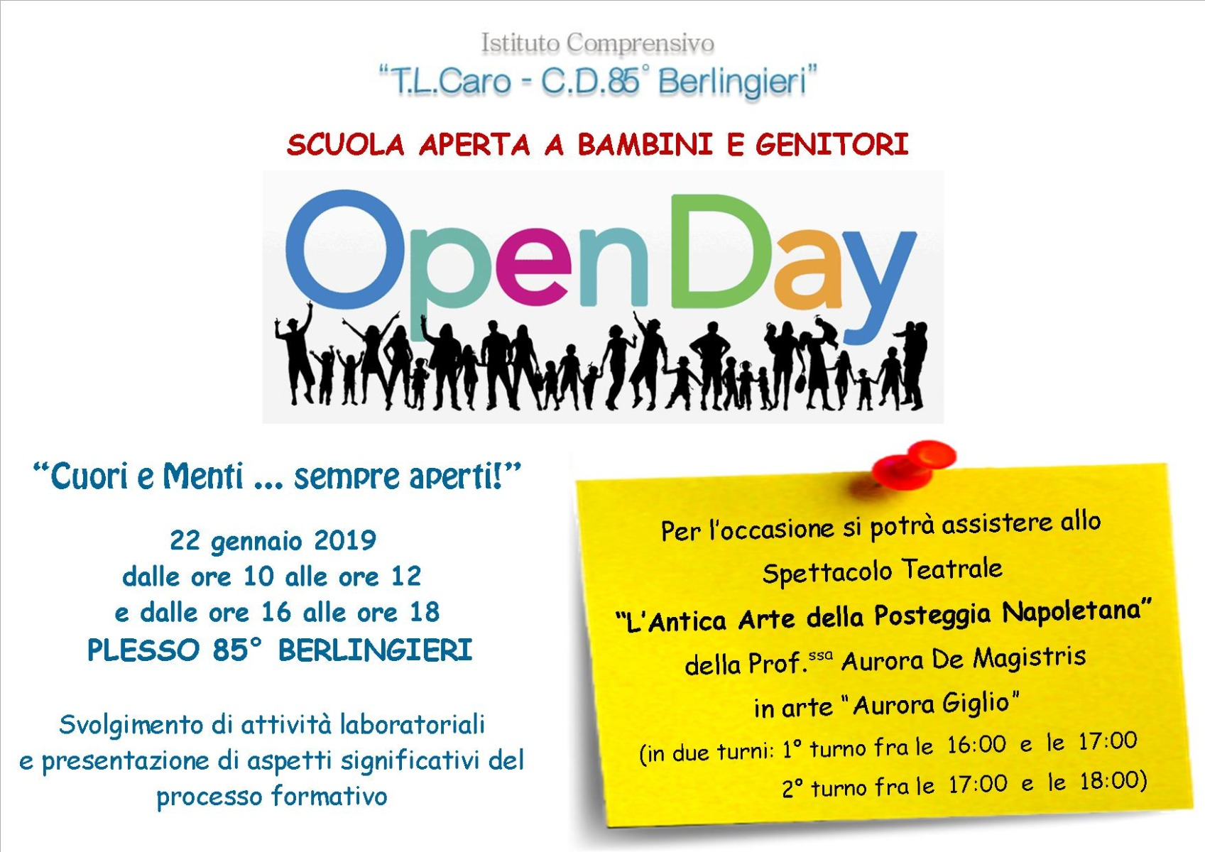 OPEN DAY Plesso 85° Berlingieri